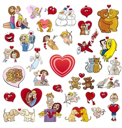 valentine big cartoon collection vector image