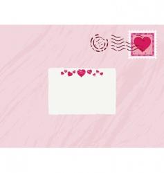 valentine envelope vector image