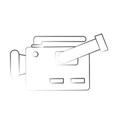 video camera sideview icon image vector image
