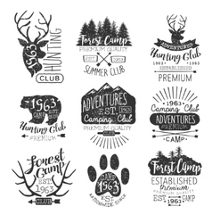 Vintage Forest Stamps Collection vector