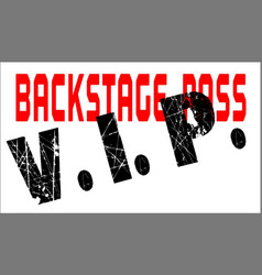 vip backstage pass vector image