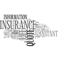 What to look for in an instant life insurance vector