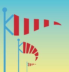 Wind vane weather vane in vector