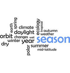 Word cloud season vector