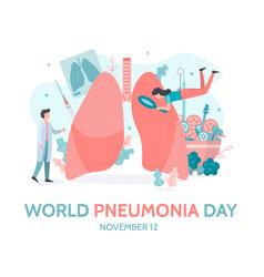 World pneumonia day banner vector