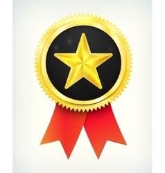 best choice golden star vector image vector image
