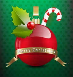 Christmas background with various decors vector image vector image