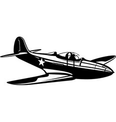 Fighter Aircobra vector image vector image