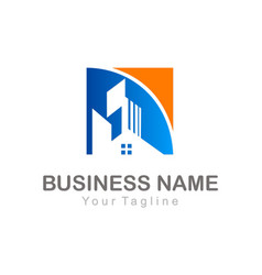 Home realty building business company logo vector