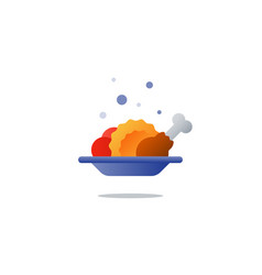 lunch plate tasty dinner main course icon vector image vector image