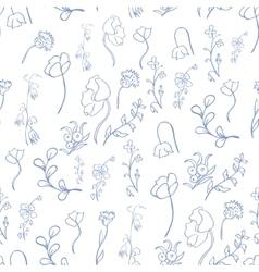 meadow and garden flowers vector image vector image