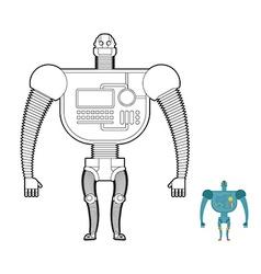 Retro Robot Warrior coloring book Toy for boys vector image vector image