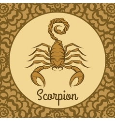 Scorpion logo icon vector image