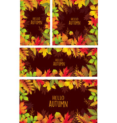 set of banners of autumnal leaves vector image