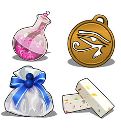 set of items for games or other design needs vector image