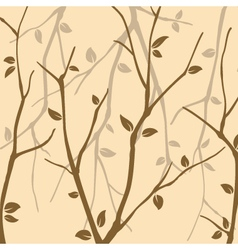 Abstract Autumn leaves wallpaper vector image vector image