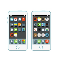 Modern smartphone with different interface element vector image vector image