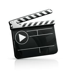 Movie clap vector image