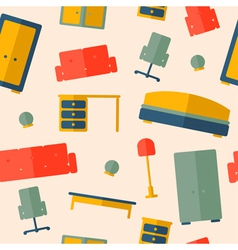 seamless pattern of furniture vector image