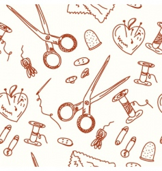 sewing pattern vector image vector image