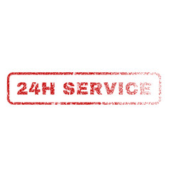 24h service rubber stamp vector image