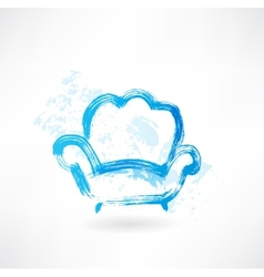 armchair grunge icon vector image vector image