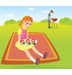 At the picnic vector image vector image