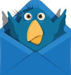 Bird in the envelope vector image vector image