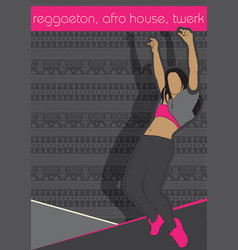 booty dance afro house vector image