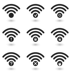 Creative WiFi Icons Set vector image vector image