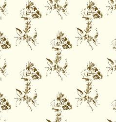 Grunge Rose Pattern2 vector image vector image