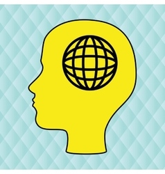 thinking person design vector image