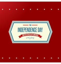 American Independence Day Patriotic background vector image vector image
