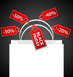 Black Friday shoping bag vector image