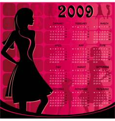 calendar for 2009 vector image vector image