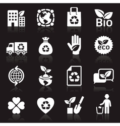 Ecology icons set4 vector image vector image
