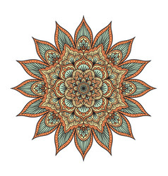 mandala isolated on white vector image vector image