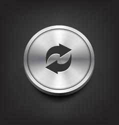 Metal Arrows Icon vector image vector image