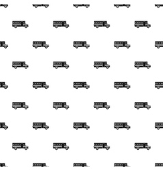 School bus pattern simple style vector image vector image