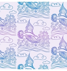 Summer sea seamless pattern vector image vector image