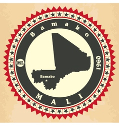 Vintage label-sticker cards of Mali vector image vector image