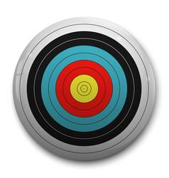 3d realistic target vector