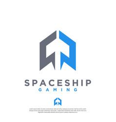 a modern masculine minimalist rocket logo vector image