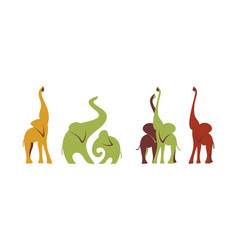 african elephants vector image