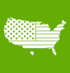 american map icon green vector image