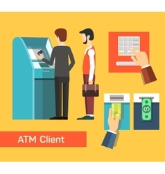 Atm machine money deposit and withdrawal vector