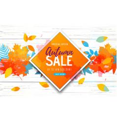 Autumn big sale watercolor poster vector