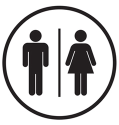 Bathroom Sign Icon vector
