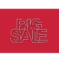 Big Sale Text Design Element vector image