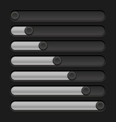 black slider bar settings on control panel vector image
